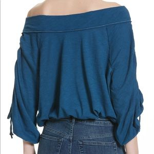 Free People   Bohemia Off the Shoulder Cinched Top